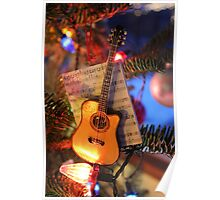 Guitar Ornament Poster