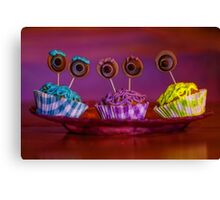 monster inc cupcakes Canvas Print