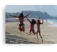 having fun on the beach Canvas Print