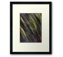 YELLOW GREEN AND PURPLE STREAKS Framed Print