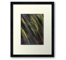 YELLOW GREEN AND PURPLE STREAKS Framed Print