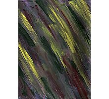 YELLOW GREEN AND PURPLE STREAKS Photographic Print