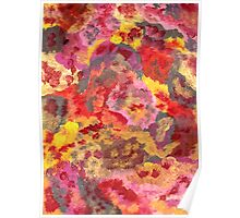RED AND YELLOW PATTERNS ABSTRACT Poster
