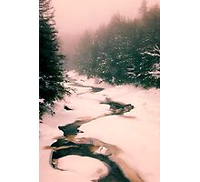 Winter Snowy Water Scene Photographic Print