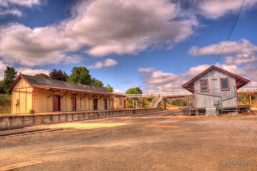 Bombala Railway Station and Goods Shed by Kym Bradley