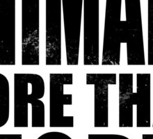 I Love Animals More Than People - Black Sticker