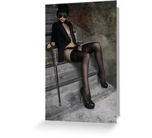 Steampunk Maiden 2 Greeting Card