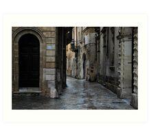 Streetscape in Baroque Art Print