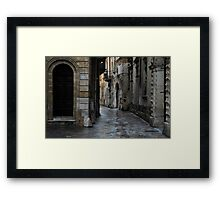 Streetscape in Baroque Framed Print