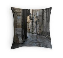 Streetscape in Baroque Throw Pillow