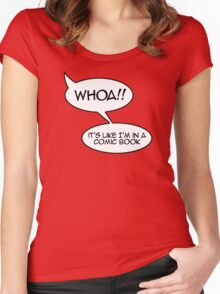 Whoa! It's like I'm in a comic book Women's Fitted Scoop T-Shirt
