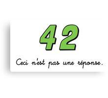 42 n'est pas une réponse (DARK) Canvas Print