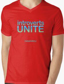 introverts unite (separately) Mens V-Neck T-Shirt