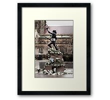 Richard The Third Floral Tribute Framed Print