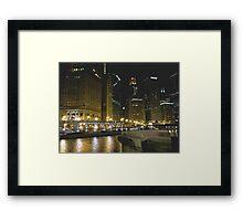 City River Lights Framed Print