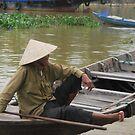 Fisherman Hoi An Vietnam by Julie Sherlock