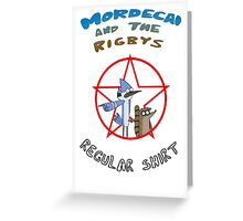 the regular show mordecai and the rigbys Greeting Card