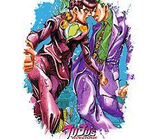 JoJo's Bizarre Adventure - Josuke & Kira by Onimihawk