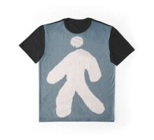 Walking person sign on the ground Graphic T-Shirt