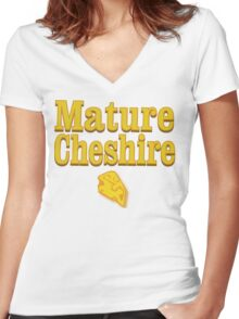 Mature Cheshire Women's Fitted V-Neck T-Shirt
