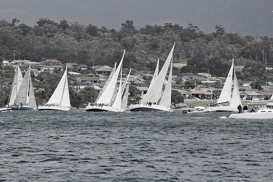 Yachts on a Lean by Alastair Creswell