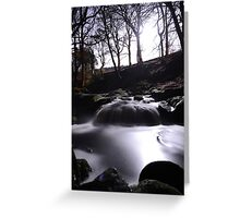 Stream by night 2 Greeting Card
