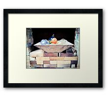 Fused Glass Complacency Framed Print