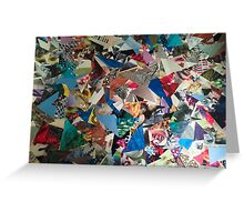 Triangle Explosion Greeting Card