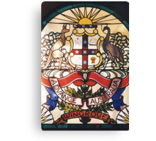Coat of Arms in Glass Canvas Print