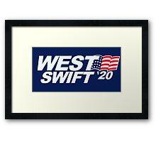 Kayne West and Taylor Swift 2020 Election  Framed Print