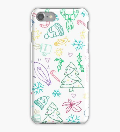 Holiday Doodles iPhone Case/Skin
