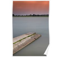 Sunset on the lakes of Mantua Poster