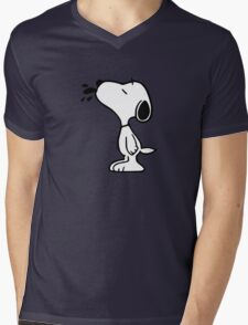 Snoopy! Mens V-Neck T-Shirt