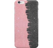 Pretty Girly Pink & Black Faux Glitter Brushstroke iPhone Case/Skin