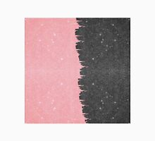 Pretty Girly Pink & Black Faux Glitter Brushstroke Classic T-Shirt