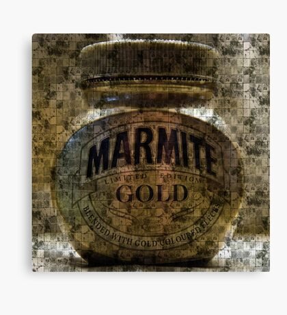Marmite Gold with Tiles Canvas Print