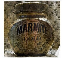Marmite Gold with Tiles Poster