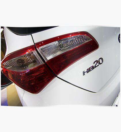 Hyundai HB20 Back Light [ Print & iPad / iPod / iPhone Case ] Poster