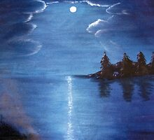 Moonlit Lake by designingjudy