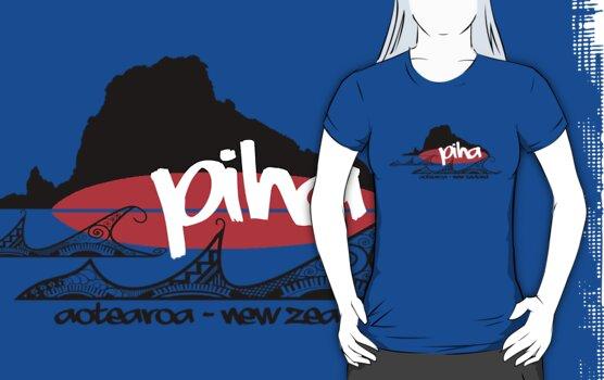 piha / lion  rock surf  by dennis william gaylor