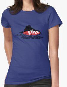 piha / lion  rock surf  Womens Fitted T-Shirt