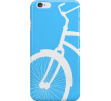 Silhouette of vintage bicycle in blue background iPhone Case/Skin