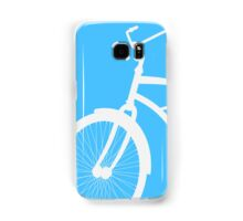 Silhouette of vintage bicycle in blue background Samsung Galaxy Case/Skin