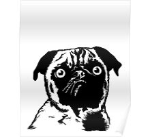 MEAN MUG PUG - Ozzy Inked Bust Poster