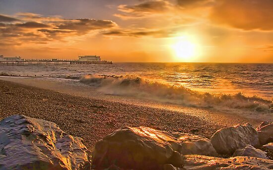 Worthing Beach Sunrise 3 - Boxing Day 2012 - HDR  by Colin J Williams Photography