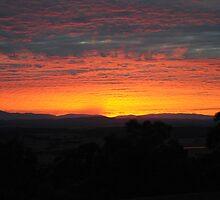 Sunrise, near Whittlesea, Victoria by Heather Samsa
