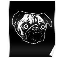MEAN MUG PUG - Ozzy Inked, negative Poster