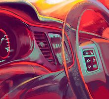 Dodge Dart tryptich No.3 by Rafi Adrian Z