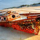 Shipwrecked Boat on Outer Banks front side view by Dan Carmichael