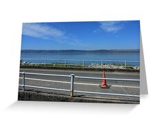 Traffic Cone on Road Greeting Card